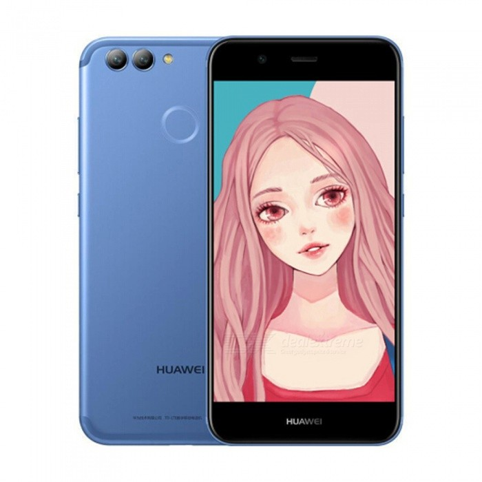 Huawei Nova2 Android Dual SIM Octa-Core 4G 5.0 Phone w/ 4GB RAM, 64GB ROM - BlueAndroid Phones<br>ColorBlueRAM4GBROM64GBBrandHUAWEIModelNova2Quantity1 setMaterialMetalShade Of ColorBlueTypeBrand NewPower AdapterUS PlugHousing Case MaterialMetalNetwork Type2G,3G,4GBand DetailsGSM:B2/B3/B5/B8      WCDMA : B1/B2/B5/B8        TDD-LTE : B38/B39/B40/B41     FDD-LTE : B1/B3/B5Data TransferGPRSWLAN Wi-Fi 802.11 b,g,nSIM Card TypeNano SIMSIM Card Quantity2Network StandbyDual Network StandbyGPSYesNFCNoInfrared PortNoBluetooth VersionBluetooth V4.2Operating SystemOthers,Android 7.0CPU ProcessorKirin 659 Octa-Core   1.7GHzCPU Core QuantityOcta-CoreGPUMaliT830-MP2LanguageRussian,German,Spanish,Polish,Turkish,English,N ......Available Memory58GBMemory CardSupport TF cardMax. Expansion Supported128GBSize Range5.0~5.4 inchesTouch Screen TypeIPSScreen Resolution1920*1080Screen Size ( inches)5.0Camera type3 x CamerasCamera PixelOthers,8.0MP+12MPFront Camera Pixels20 MPFlashYesTalk Time20 hoursStandby Time60 hoursBattery Capacity2950 mAhBattery ModeNon-removablefeaturesWi-Fi,GPS,BluetoothSensorG-sensor,Proximity,CompassWaterproof LevelIPX0 (Not Protected)Dust-proof LevelNoShock-proofNoI/O InterfaceUSB Type-cSoftwareFacebook, Twitter, Google browser, Google mapFormat Supportedmp3 , ogg , amr , aac , flac , wav , midi,3gp , 3g2 , mp4 , mkv , mov , webm , aviJAVANoTV TunerNoRadio TunerNoWireless ChargingNoOther Features5.0  IPS + Dual Network Standby + Android7.0 + 4GB RAM + 64GB ROM + Wi-Fi + GPS  +  20.0MP Front camera+ 12.0MP Rear camera + 2950mAh battery + Octa-CoreReference Websites== Will this mobile phone work with a certain mobile carrier of yours? ==Packing List1 x Cell phone1 x US Plug Power adapter1 x User manual1 x Warranty manual<br>