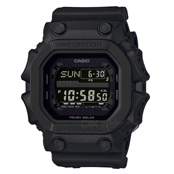 Casio G-Shock GX-56BB-1 Solar Power Series Watch - BlackSport Watches<br>ColorBlackModelGX-56BB-1Quantity1 pieceShade Of ColorBlackCasing MaterialResinWristband MaterialResinSuitable forAdultsGenderMenStyleWrist WatchTypeCasual watchesDisplayDigitalMovementDigitalDisplay Format12/24 hour time formatWater ResistantOthers,200-meter water resistanceDial Diameter5.55 cmDial Thickness1.75 cmWristband Length22 cmBand Width2.2 cmBatterySolar poweredPacking List1 x GX-56BB-1<br>