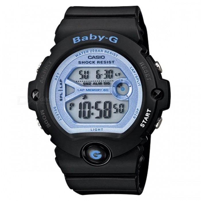 Casio Baby-G BG-6903-1 For Running Series Sport Watch - Black + BlueSport Watches<br>ColorBlack + BlueModelBG-6903-1Quantity1 pieceShade Of ColorBlackCasing MaterialResinWristband MaterialResinSuitable forAdultsGenderUnisexStyleWrist WatchTypeCasual watchesDisplayDigitalMovementDigitalDisplay Format12/24 hour time formatWater ResistantOthers,200-meter water resistanceDial Diameter4.91 cmDial Thickness1.35 cmWristband Length22 cmBand Width2.2 cmBattery1 x CR2016Packing List1 x BG-6903-1<br>