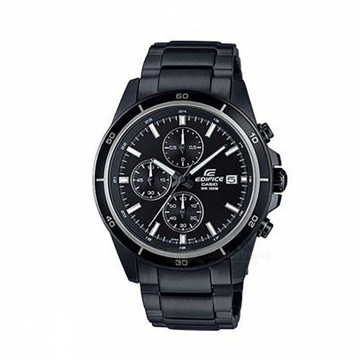 Casio Edifice Chronogtaph EFR-526BK-1A1 Mens Watch - BlackQuartz Watches<br>ColorBlackModelEFR-526BK-1A1Quantity1 pieceShade Of ColorBlackCasing MaterialStainless steelWristband MaterialSolid and Stainless SteelSuitable forAdultsGenderMenStyleWrist WatchTypeCasual watchesDisplayAnalogMovementQuartzDisplay Format12 hour formatWater ResistantOthers,100-meter water resistanceDial Diameter4.85 cmDial Thickness1.16 cmWristband Length22 cmBand Width1.8 cmBattery1 x SR920SWPacking List1 x EFR-526BK-1A1<br>