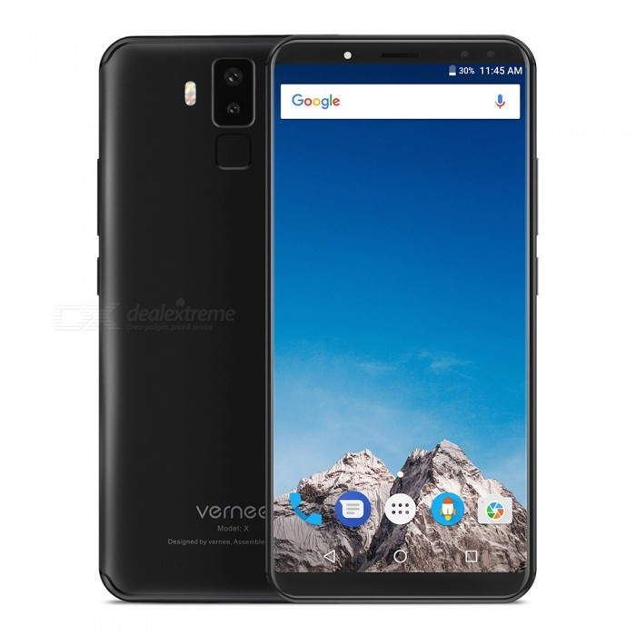 VERNEE X Android 7.1 4G 5.99 Phone with 4GB RAM, 64GB ROM, 6200mAh Large Battery - BlackAndroid Phones<br>RAM4GBROM64GBColorBlackBrandOthers,VERNEEModelXQuantity1 setMaterialotherForm  ColorBlackTypeBrand NewPower AdapterEU PlugHousing Case MaterialotherNetwork Type2G,3G,4GBand DetailsGSM: band 2/3/5/8   WCDMA :band 1/8  FDD:band 1/3/7/8/20Data TransferGPRS,LTEWLAN Wi-Fi 802.11 b,g,nSIM Card TypeMicro SIM,Nano SIMSIM Card Quantity2Network StandbyDual Network StandbyGPSYesNFCNoInfrared PortNoBluetooth VersionBluetooth V4.0Operating SystemOthers,Android 7.1CPU ProcessorMT6763  Octa-coreCPU Core QuantityOcta-CoreGPUARM Mali-G71-MP2;700MHzLanguageIndonesian, Malay, Catalan, Czech, Danish, German, Estonian, English, Spanish, Filipino, French, Croatian, Italian, Latvian, Lithuanian, Hungarian, Dutch, Norwegian, Polish, Portuguese, Romanian, Slovak, Finnish, Swedish, Vietnamese, Greek, Turkish, Bulgarian, Russian, Serb, Ukrainian, Armenian, Hebrew, Urdu, Arabic, Persian, Hindi, Bengali, Thai, KoreanRAM4GBROM64GBAvailable Memory58GBMemory CardTFMax. Expansion Supported128GBSize Range5.5 inches &amp; OverTouch Screen TypeIPSScreen ResolutionOthers,1080*2160Screen Size ( inches)Others,5.99Camera type4 x CamerasCamera PixelOthers,13M AF+5.0M, 8M FF+5.0MFront Camera Pixels8.0 MPFlashYesTalk Time72 hoursStandby Time360 hoursBattery Capacity6200 mAhBattery ModeNon-removablefeaturesWi-Fi,GPS,FM,BluetoothSensorG-sensor,Proximity,Fingerprint authentication sensorWaterproof LevelIPX0 (Not Protected)Dust-proof LevelNoShock-proofNoI/O InterfaceUSB Type-cSoftwareFacebook, Google browser, Google mapFormat SupportedMIDIMP3AAC ARM AWB WAV FLAC   3GPPMPEG-4H.264WMV9VP9JAVANoTV TunerNoRadio TunerFMWireless ChargingNoOther Features5.99 IPS + Dual Network Standby + Android7.1 +4GB RAM + 64GB ROM + Wi-Fi + GPS + FM  +  13.0MP Rear camera + 6200mAh battery + Octa-core + Bluetooth 4.0Reference Websites== Will this mobile phone work with a certain mobile carrier of yours? ==CertificationCE+TEE+GMSPacking List1 x Phone 1 x PE bag1 x Data cable (100cm)1 x AC power charger adapter ( 100~240V ) 1 x English user manual1 x Screen protector1 x Retrieve card pin<br>