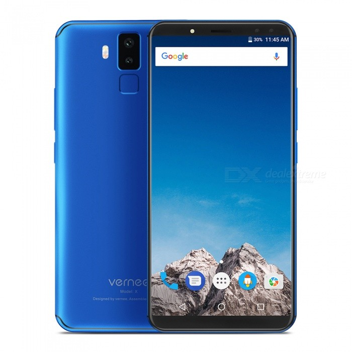 VERNEE X Android 7.1 4G 5.99 Phone with 4GB RAM, 64GB ROM, 6200mAh Large Battery - BlueAndroid Phones<br>RAM4GBROM64GBColorBlueBrandOthers,VERNEEModelXQuantity1 setMaterialotherForm  ColorBlueTypeBrand NewPower AdapterEU PlugHousing Case MaterialotherNetwork Type2G,3G,4GBand DetailsGSM: band 2/3/5/8   WCDMA :band 1/8  FDD:band 1/3/7/8/20Data TransferGPRS,LTEWLAN Wi-Fi 802.11 b,g,nSIM Card TypeMicro SIM,Nano SIMSIM Card Quantity2Network StandbyDual Network StandbyGPSYesNFCNoInfrared PortNoBluetooth VersionBluetooth V4.0Operating SystemOthers,Android 7.1CPU ProcessorMT6763  Octa-coreCPU Core QuantityOcta-CoreGPUARM Mali-G71-MP2;700MHzLanguageIndonesian, Malay, Catalan, Czech, Danish, German, Estonian, English, Spanish, Filipino, French, Croatian, Italian, Latvian, Lithuanian, Hungarian, Dutch, Norwegian, Polish, Portuguese, Romanian, Slovak, Finnish, Swedish, Vietnamese, Greek, Turkish, Bulgarian, Russian, Serb, Ukrainian, Armenian, Hebrew, Urdu, Arabic, Persian, Hindi, Bengali, Thai, KoreanRAM4GBROM64GBAvailable Memory58GBMemory CardTFMax. Expansion Supported128GBSize Range5.5 inches &amp; OverTouch Screen TypeIPSScreen ResolutionOthers,1080*2160Screen Size ( inches)Others,5.99Camera type4 x CamerasCamera PixelOthers,13M AF+5.0M, 8M FF+5.0MFront Camera Pixels8.0 MPFlashYesTalk Time72 hoursStandby Time360 hoursBattery Capacity6200 mAhBattery ModeNon-removablefeaturesWi-Fi,GPS,FM,BluetoothSensorG-sensor,Proximity,Fingerprint authentication sensorWaterproof LevelIPX0 (Not Protected)Dust-proof LevelNoShock-proofNoI/O InterfaceUSB Type-cSoftwareFacebook, Google browser, Google mapFormat SupportedMIDIMP3AAC ARM AWB WAV FLAC   3GPPMPEG-4H.264WMV9VP9JAVANoTV TunerNoRadio TunerFMWireless ChargingNoOther Features5.99 IPS + Dual Network Standby + Android7.1 +4GB RAM + 64GB ROM + Wi-Fi + GPS + FM  +  13.0MP Rear camera + 6200mAh battery + Octa-core + Bluetooth 4.0Reference Websites== Will this mobile phone work with a certain mobile carrier of yours? ==CertificationCE+TEE+GMSPacking List1 x Phone 1 x PE bag1 x Data cable (100cm)1 x AC power charger adapter ( 100~240V ) 1 x English user manual1 x Screen protector1 x Retrieve card pin<br>