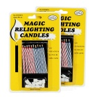 Cannot-Blow-Out Magical Candles 2-Pack 18-Candle - Multicolor