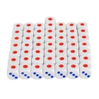 Mini Dice - White + Red (50PCS)