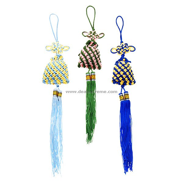Chinese Knots Hanging Ornaments Strap (Assorted 3-Pack)