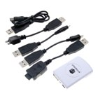 Portable Emergency Charger with 5 USB Cables (for MP4/PSP/PDA/Ipod/Cell Phone)