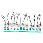 Cell Phone Signal Activated Flashing LED Mahjong Keychains (12-Pack)