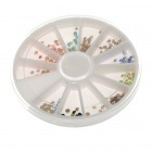 Nail Art Rhinestone Glitter Tip Mix Gems Wheel