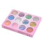 12 Colors Sparkle Acrylic Glitter Dust Powder Nail Art