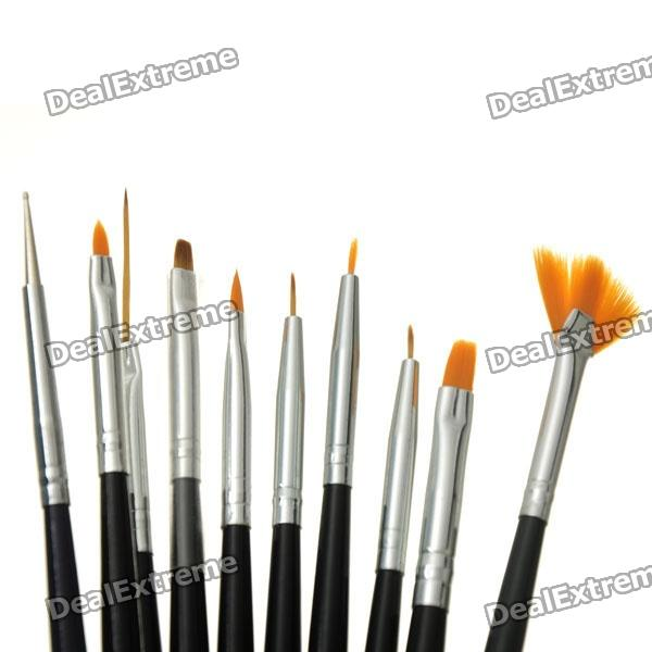 Nail art drawing painting brush acrylic tip black silver nail art drawing painting brush acrylic tip black silver prinsesfo Gallery