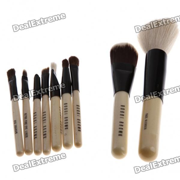 Designer's 9pcs Cosmetic Makeup Pro Brush Kits Tool Pouch Case Bag