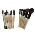 Designer's Professional 15pcs Cosmetic Make-up Brushes Set - Black