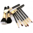 Designer's Makeup Cosmetic Brushes Set with Case (10-Piece)