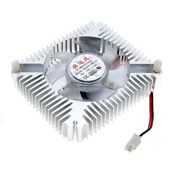 Snowflake DC Brushless Cooling Fan for PC Video Card (12V) delta bub0812hd hm00 bj91 dc 12v 0 53a server blower fan