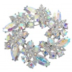 Multicolor Garland Crystal Pin Brooch (Rainbow)