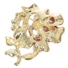 Multicolor Enamel with Crystal Rose Pin Brooch (Red)