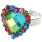 Multicolor Austrian Crystal Heart Cut Ring