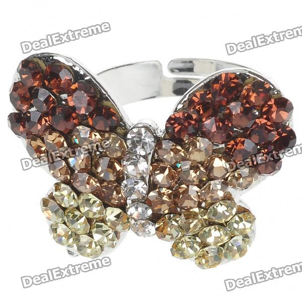 Pretty Crystal Butterfly Cut Ring (Golden) женская рубашка lan color butterfly pretty dl539 2015