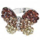 Pretty Crystal Butterfly Cut Ring (Golden)
