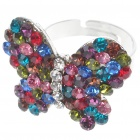 Pretty Austrian Crystal Butterfly Cut Ring (Multicolor)