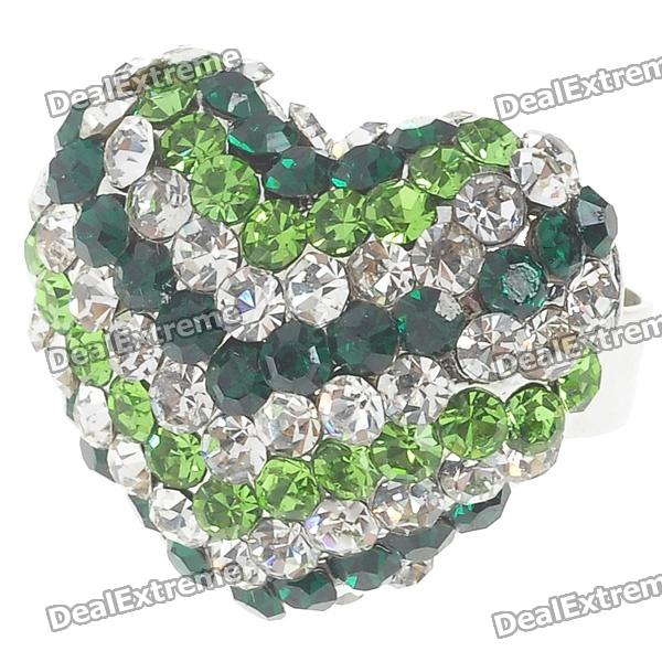 Pretty Crystal Heart Cut Ring (Green) ceelo green heart blanche cd