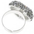 Pretty Austrian Crystal Heart Cut Ring (Titanium)