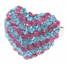Pretty Austrian Crystal Heart Cut Ring (Sparkling Red)