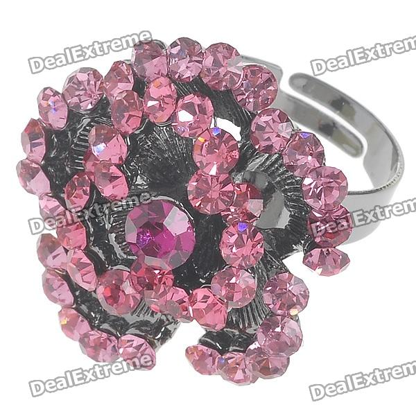 Pretty Crystal Rose Ring (Pink Topaz)