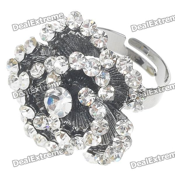 Pretty Crystal Rose Ring (White Topaz)