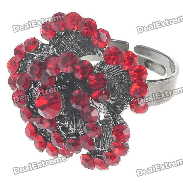 Pretty Crystal Rose Ring (Garnet)
