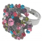 Pretty Austrian Crystal Rose Ring (Multicolor)