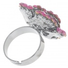 Pretty Crystal Rose Ring (Pink Kunzite)