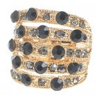 18KT Austrian Crystal Ring (Black Onyx)