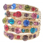 18KT Kristall-Ring (Multicolor)