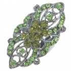 Victoria Vintage Crystal Long Ring (Peridot)