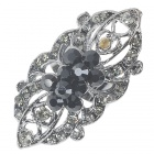 Victoria Vintage Austrian Crystal Long Ring (Black Onyx)