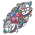 Victoria Vintage Austrian Crystal Long Ring (Multicolor)