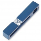 Men's Stainless Steel Rectangle Pendant with Crystal (Blue)