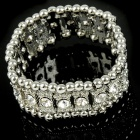 Elegant Bridal Wedding Crystal 18KP Stretch Bracelet