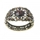 Victorian Crystal Wonderland Cuff Bangle Bracelet (Brown)