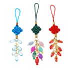 Crystal Beads Phone Ornaments (Assorted 3-Pack)