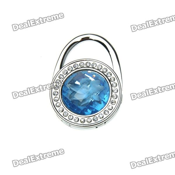 Swiss Blue Crystal Handbag Purse Hook Hanger swiss blue crystal handbag purse hook hanger