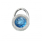 Swiss Blue Austrian Crystal Handbag Purse Hook Hanger