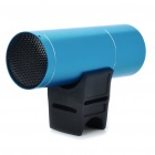 Portable USB Rechargeable MP3 Player Speaker with FM & TF Slot - Blue