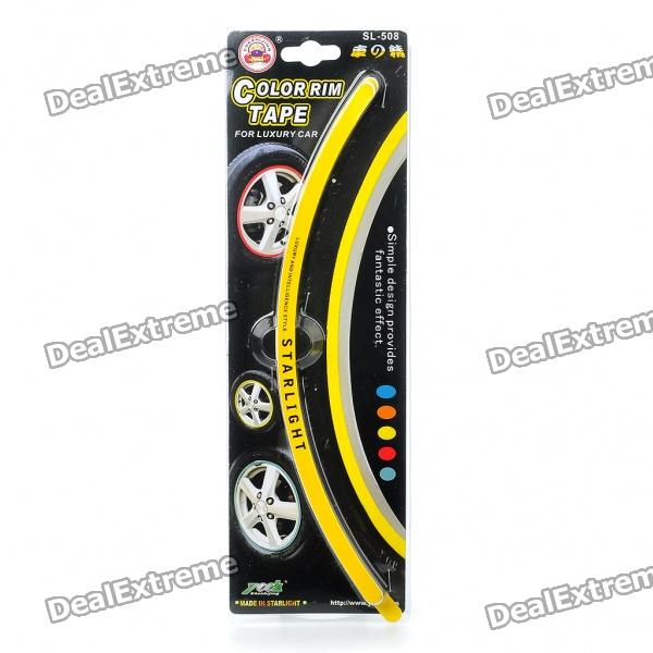 Car Wheel Decorative Color Rim Tape - Yellow (28-Piece Set) car wheel rims decorative stickers blue 28 piece