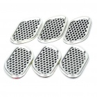 Universal Air Flow Vent Hood Covers for Car - Silver (6-Piece Pack)