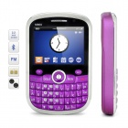"M900 2.2"" LCD Dual SIM Dual Network Standby Quadband GSM TV Cell Phone w/ WiFi/Java - Purple"