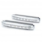 4W 180-Lumen 8-LED White Light Daytime Running Lamps for Car (Pair/DC 12V)