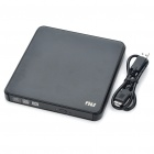 Slim Portable External USB 3.0 CD/DVD Burner Player - Black