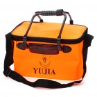 9-Litre Foldable Water Bucket - Orange + Black